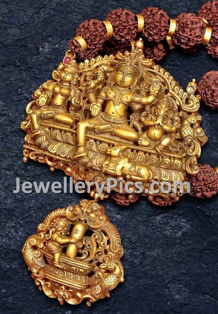 heavy temple gold pendent
