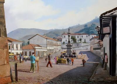 Cuadros con Pueblos Andinos