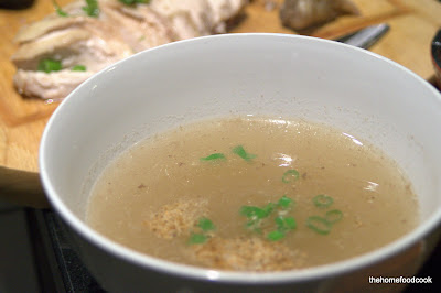 thehomefoodcook - hainanese chicken rice - soup