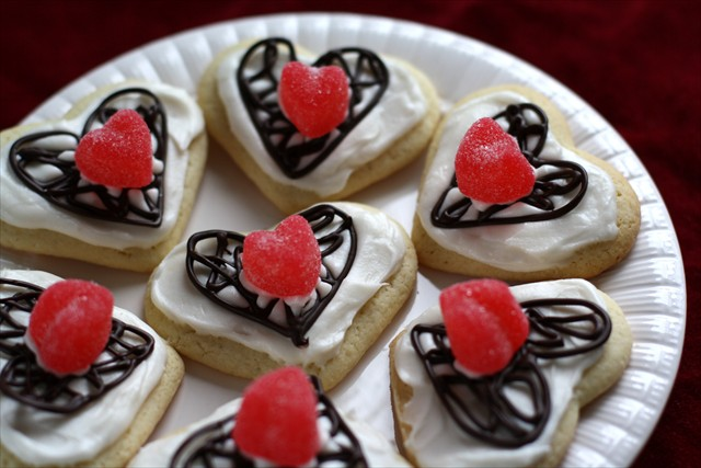 Valentines Chocolate Lattice Sugar Cookies: Butter with a Side of Bread