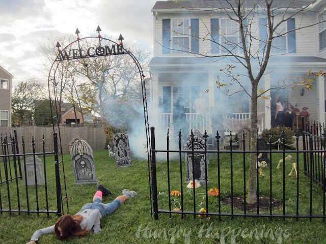 happy halloween our zombie themed party was so much fun. Black Bedroom Furniture Sets. Home Design Ideas