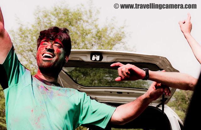 Holi Celebrations 2011 at Chandigarh !!!  : Posted by VJ SHARMA on www.travellingcamera.co : Many times when I don't have any good choice of sending holidays I move towards Chandigarh because of lot many reasons... A good city, lot of friends and lot many good reasons... The same thing happened this year during Holi vacations.. Few days back I was in Dharmshala and Palampur.. After having great fun at Holi Melas in himachal, I decided to celebrate the big day at Chandigarh... Here are some of the photographs of Holi day (20th March 2011).. Check out !!!I had planned these vacations with Nikhil on Facebook and had lot many plans which remained PLANs only :) ...  He was first one to come inside my room and spray color on me... I was sleeping at that time.. He came with a big gang and there was full plan to spend the whole day outside...Next Person who came and started complaining about the fact that I didn't inform him about my presence in the city ! Puneet Verma, MD, Cybrain Solutions  !!!Holi is famous as Basant Utsav in rural India... It is one of the major festivals in India and is celebrated with extreme enthusiasm and joy, which can be explained in words... Planning for the day started with some of the main pubs in Chadigarh and few specially organized rain dance parties around !!! Nikhil is already in dreams ... alas ! everything remained as dreams only... and all the plans changed...Ashish with his friends who met at Sukhna Lake... so he smiled and ordered their official photographer to click some photographs :)Some cool gang of boys who were carrying some agricultural equipments and utilizing them for celebrating wet Holi at Sukhna Lake in Chadigarh... Many of the folks in Chandigarh were riding Trackter with lot many folks loaded over it...Holi is the special when few people not like take bath with water and use dry colors... Here is one of the gang-member who had Color bath on that day...Nikhil, who was most irritated with worst snacks with single moult... On Holi, every eating placewas full and there were loong waiting queues outside.. Waiters were asking for flat 50 Rs tip before placing order and it was a big thing if you got more than three plates of snacks (although everything was tasteless.. ) ... I don't know why people think that Piyakkars don't have sense of taste when they are 4 peg down... Happy person, who is not eating anything... But how can he deny to take single peg on the special day of Holi...Nikhil telling 10 advantages of liquor consumption during day time.. Ashish is listening carefully... Initially plan was to arrange bhang and we had some experts to prepare the special drink for special day of Holi... but no one had right sources to get it ...Folks having camel ride after colobath of holi...By looking at electrifying crowd in the city, I realized that lot of folks from Punjab and other places come to Chandigarh for celebrating colors on the special day of Holi... How does it matter if they danced on a road-side or in a decent club... If clubs were full, why not utilize car speakers to have some thumkas on