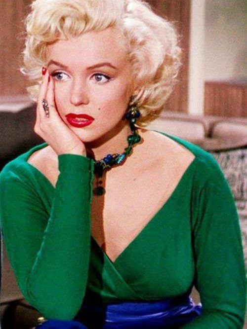 Marilyn Monroe wears her green outfit in Gentlemen Prefer Blondes