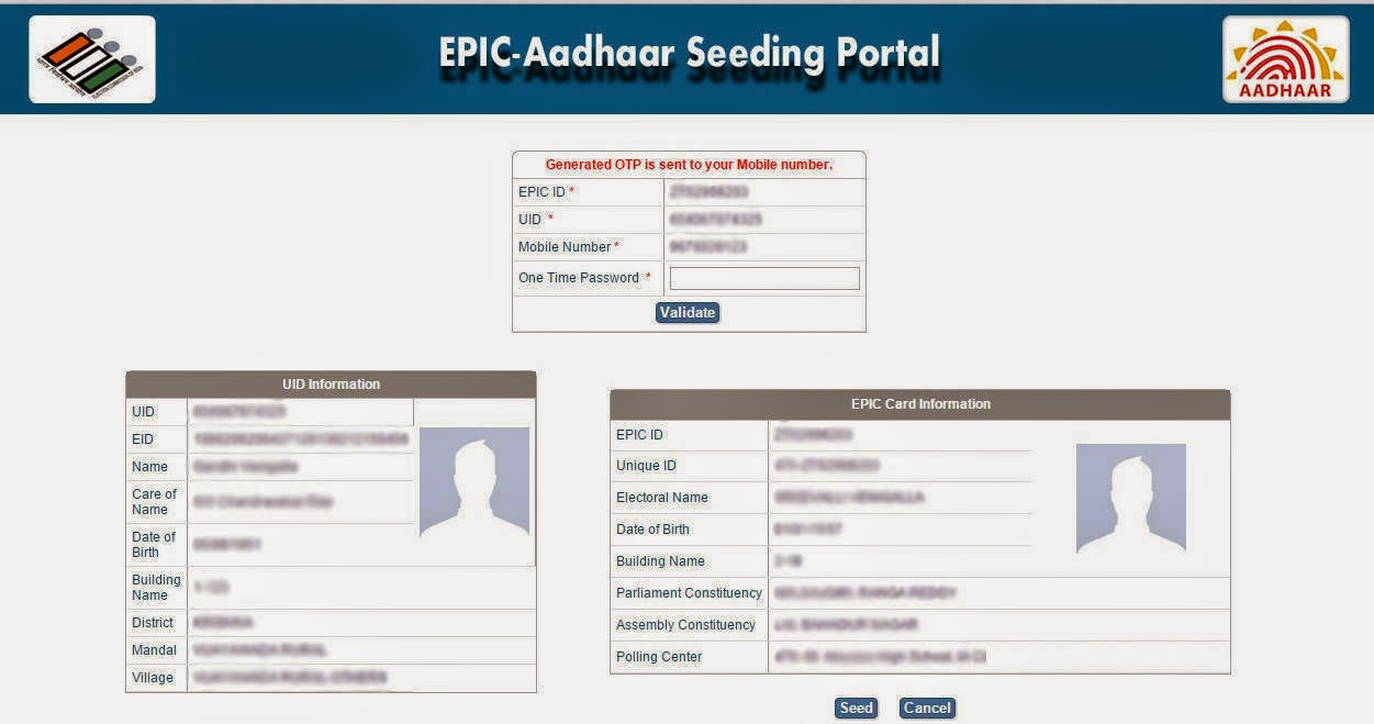 Aadhaar Card Linking with Voter ID Card Online