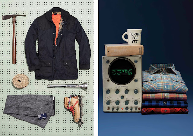 menswear blog, jack spade ny, jack spade holiday lookbook 2014, jack spade christmas gifts, jack spade menswear accessories, outfit grid, barbour collaboration, check shirts