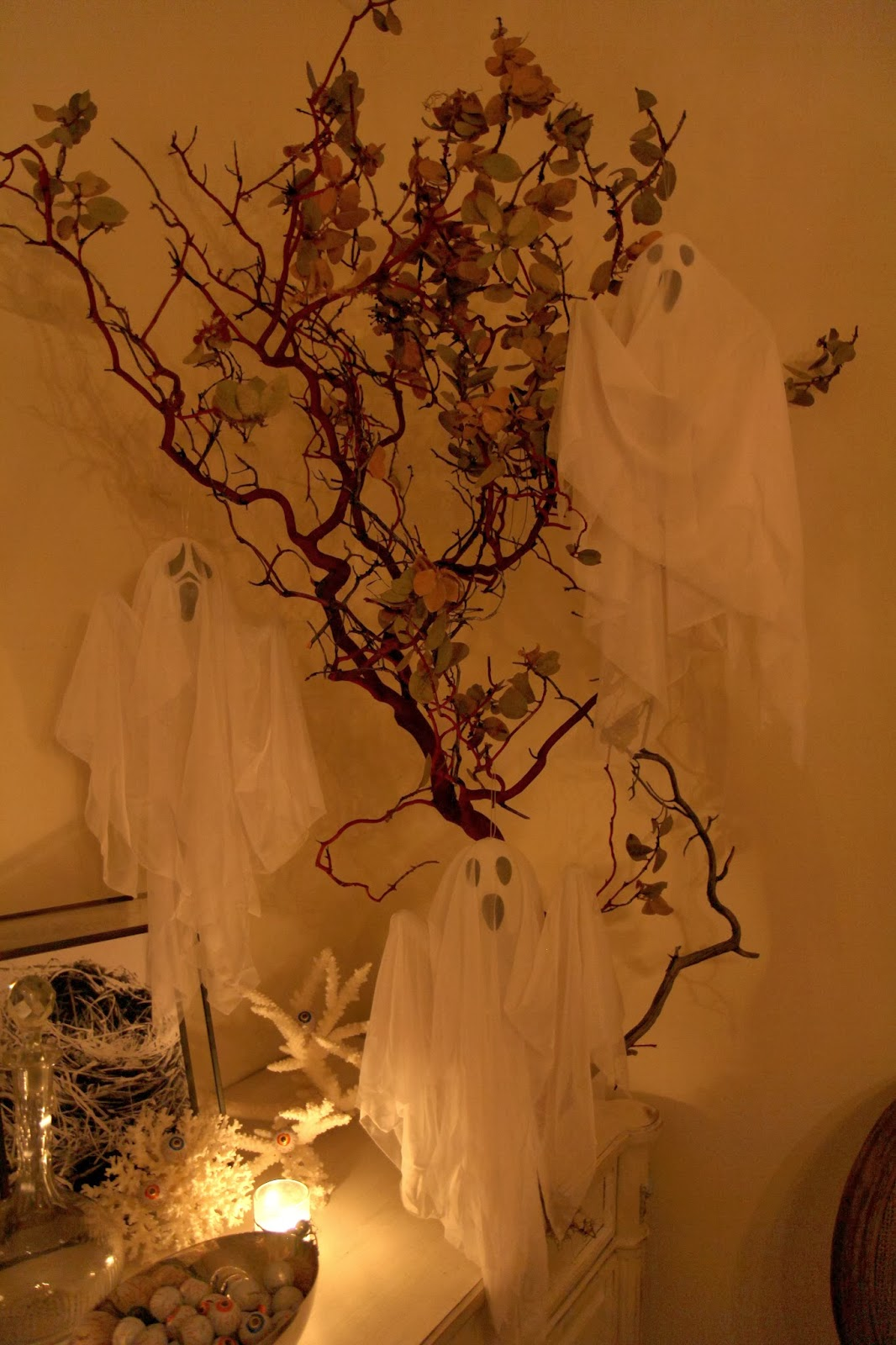 Ghosts flying on Tree Branch; Hauntify Your House for Halloween