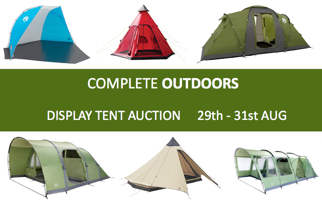 Display Tent Auction - August Bank Holiday - Complete Outdoors