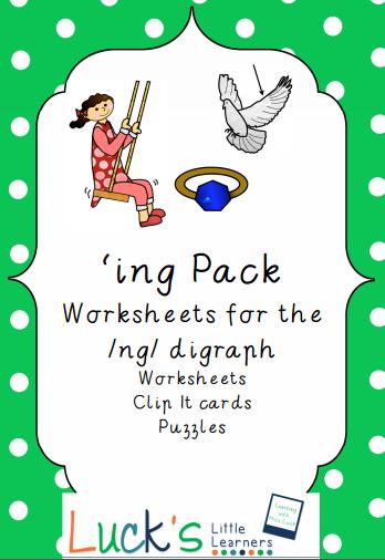 http://www.teacherspayteachers.com/Product/Digraph-NG-as-ING-word-Pack-Victorian-Modern-Cursive-1314075