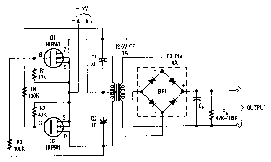 low cost power mosfet inverter circuit diagraminverter circuit diagram