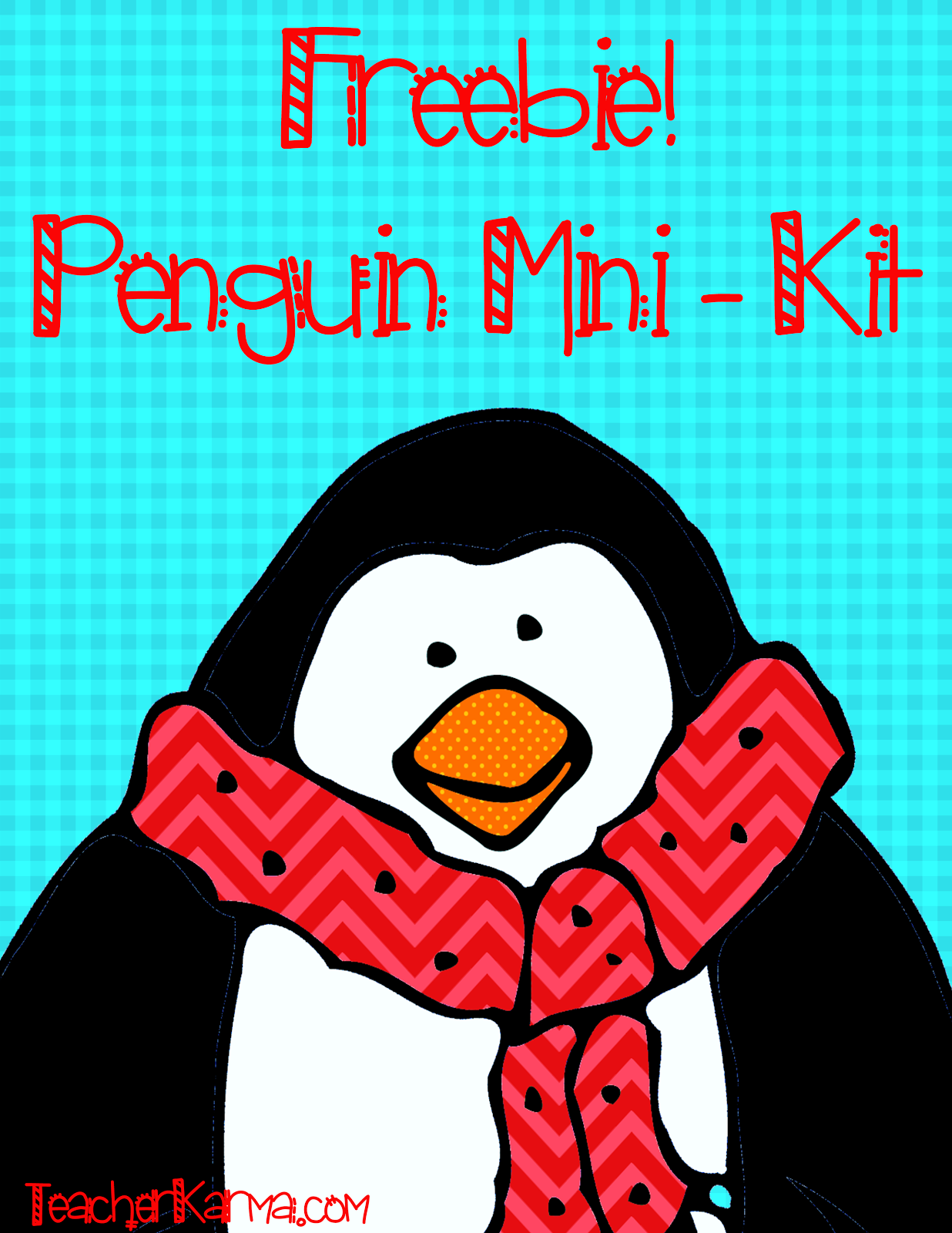 FREE penguin clip art kit to help you celebrate Christmas!  TeacherKarma.com