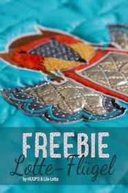 Freebie Stickmuster Flügel