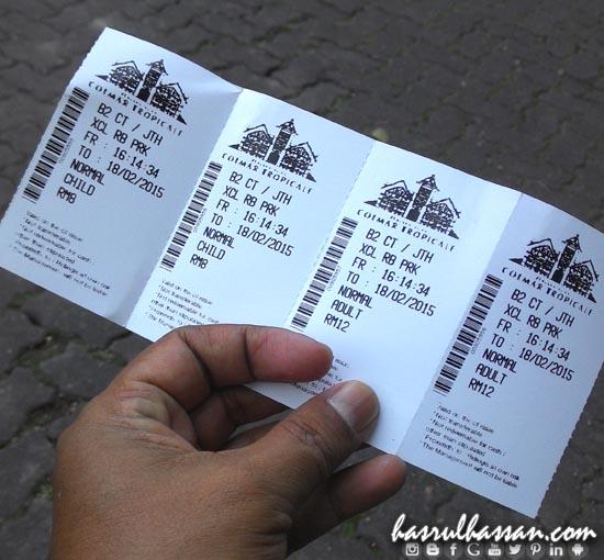 Harga tiket ke Perkampungan Jepun, Bukit Tinggi, Pahang