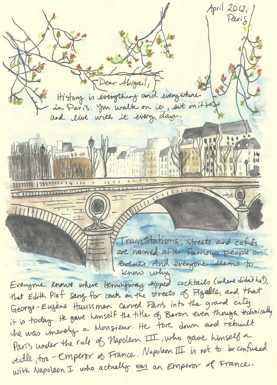 sketchy notions friday feature janice macleod the With paris letters