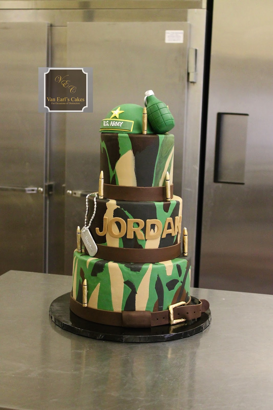 Van Earls Cakes Army Sergeant Theme Birthday Cake
