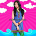 Anushka Sharma in Blue Banarasi Collar Neck Salwar Kameez