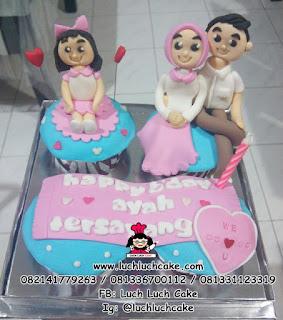 Cupcake Tema Keluarga Daerah Surabaya - Sidoarjo