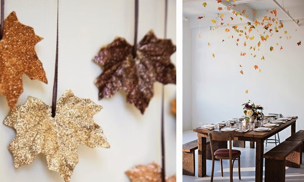 autumn decoration, autumn table settings, halloween decoration, diy, via http://www.scandinavianlovesong.com/