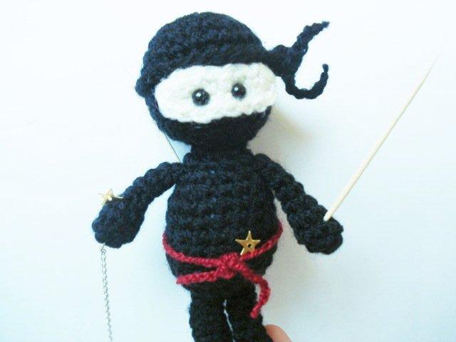 AllSoCute Amigurumis: Amigurumi Crochet Black Ninja Pattern