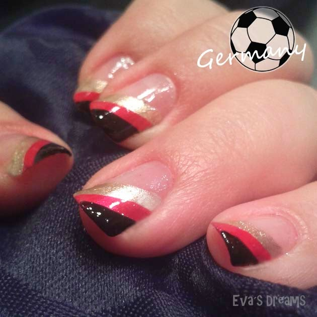 Nails of the week - Nail art design - WM 2014 Deutschland Nägel