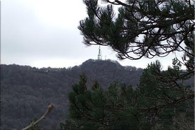 Zaldiaran visto durante el descenso