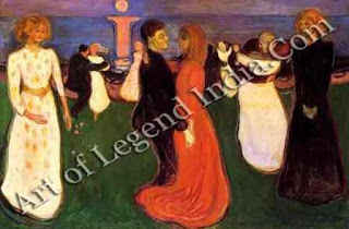 "The Great Artist Edvard Munch Painting ""The Dance of Life"" 1899-1900 49 ½ x 75"" National Gallery, Oslo"