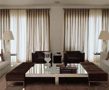 Cortinas y persianas interiores por paulina aguirre for Cortinas con estampados modernos