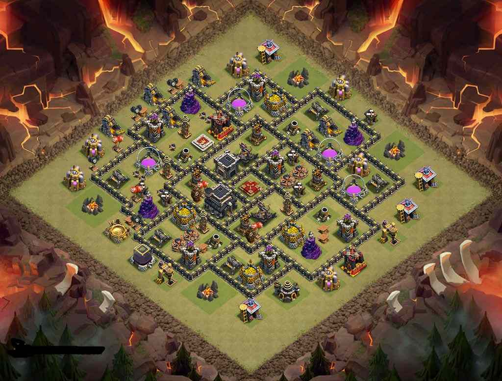 Th9 war base coc 2015 pro clash of clans games