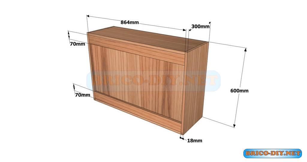 Planos detallados para hacer un mueble alto de cocina de for Planos para cocina integral de madera