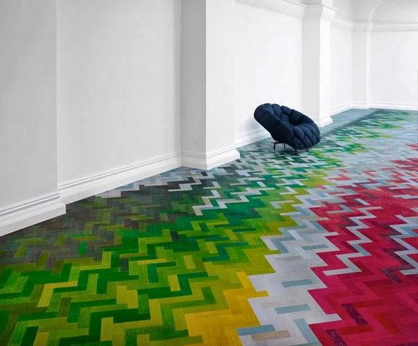 lantai rumah penuh warna majalah rumah