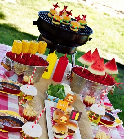 elements of design emphasis bbq centerpiece