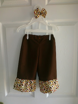Fall Ruffle Pants and Bow