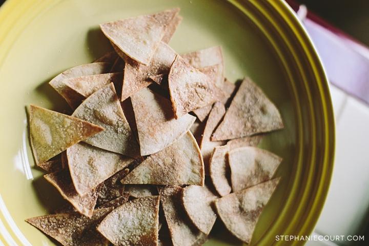 """""""homemade tortilla chips"""""""