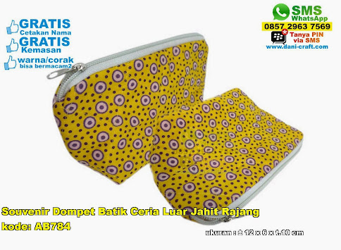 Souvenir Dompet Batik Ceria Luar Jahit Rajang