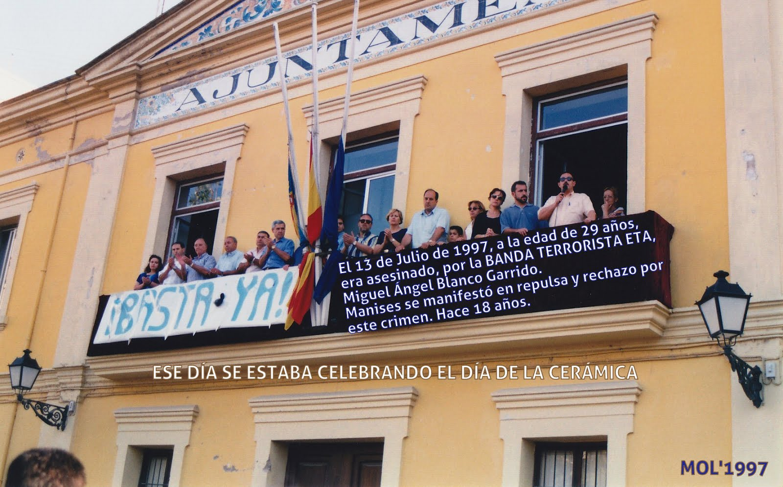 13.07.15 HACE 18 AÑOS DEL ASESINATO DE MIGUEL ÁNGEL BLANCO