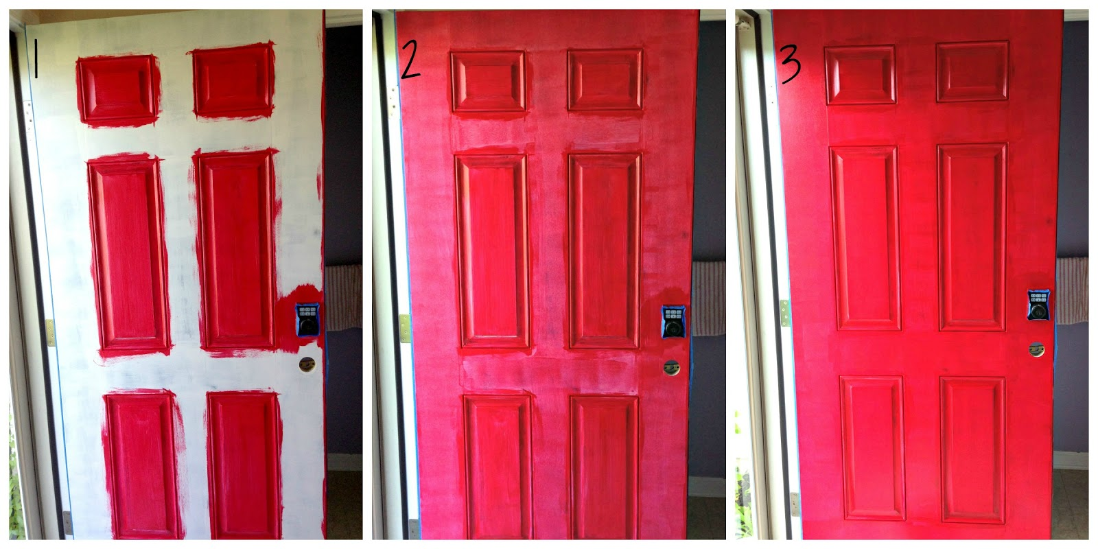 Whimsy Renee: How to Paint a Door Red and Save Your Sanity - Part Deux