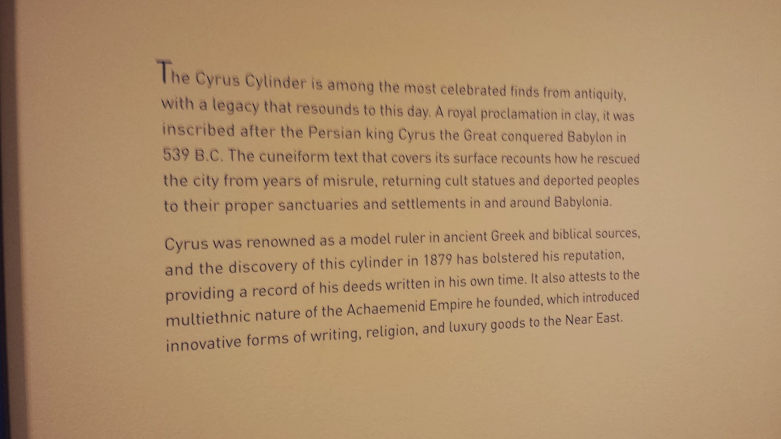 Random thoughts the cyrus cylinder a symbol of freedom the cyrus cylinder a symbol of freedom buycottarizona