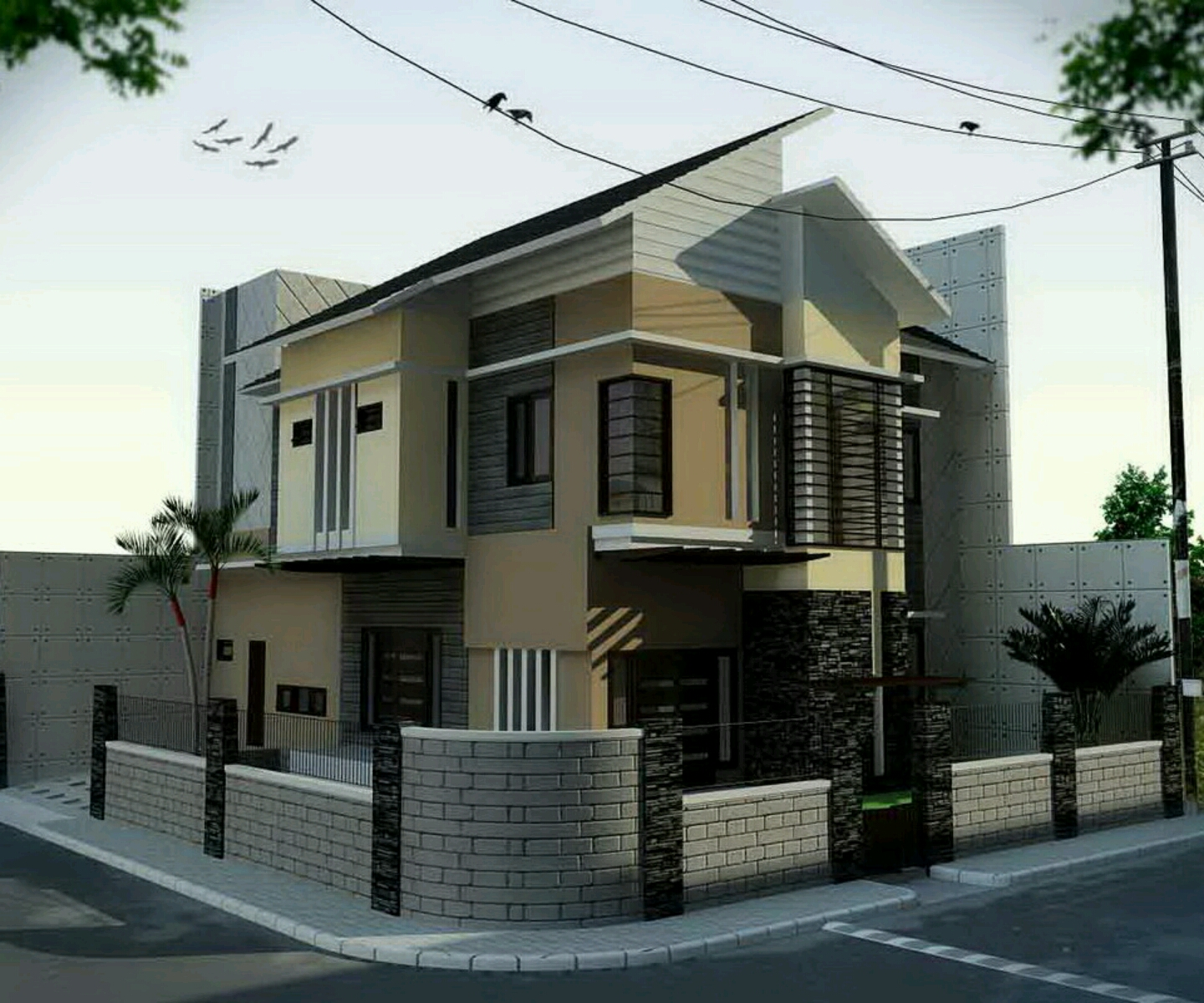 Modern homes designs front views modern home designs for Front view house plans
