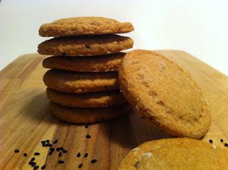 biscotti integrali con miele di limone e nigella sativa