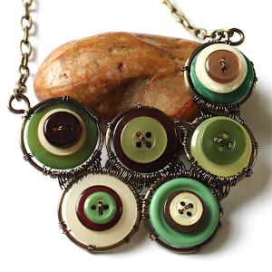 Vintage Button Neck Piece