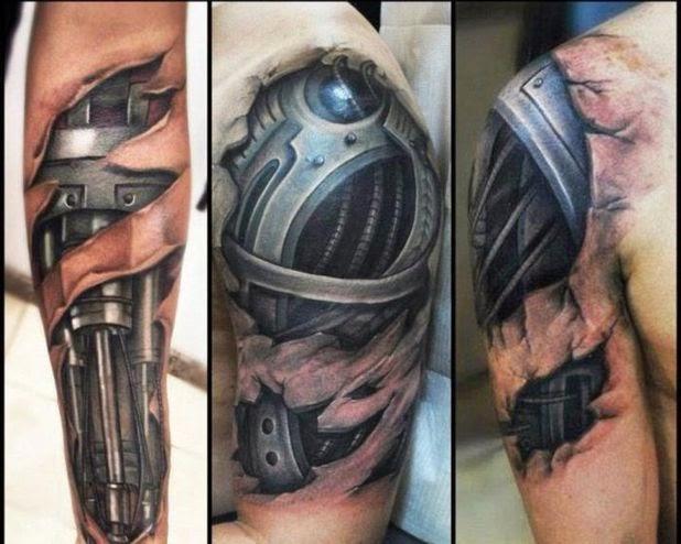 Tattoo de braço e ombro tatuado