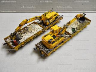 """< src = """"image_4.jpg"""" alt = """" Vagoni con gru rallata per treni cantiere Kibri """" / >"""