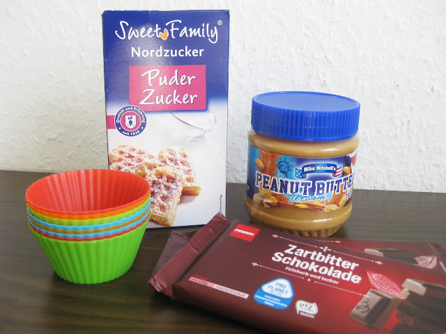 Ingredients for homemade Reese's peanut butter cups
