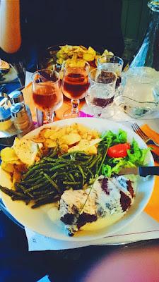Piatto di carne del Relais Gascon, Montmartre, Parigi