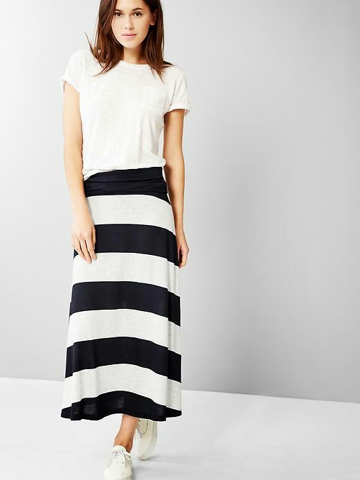 Modest black and white stripe maxi skirt | Shop Mode-sty #nolayering tznius tzniut jewish orthodox muslim islamic pentecostal mormon lds evangelical christian apostolic mission clothes Jerusalem trip hijab fashion modest muslimah hijabista