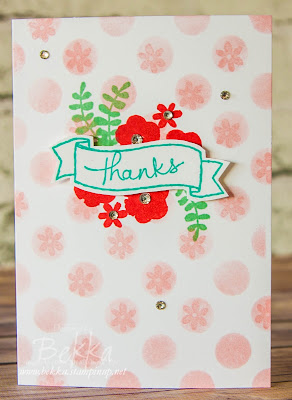 Endless Thanks Note Card by Stampin' Up! UK Demo Bekka Prideaux - check it out here