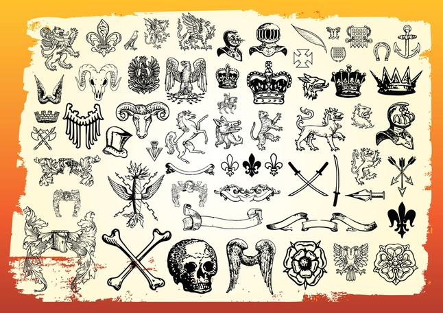 80+ Free Vector Art Antique Symbols Graphics