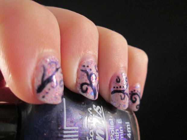 piggieluv curly nail art