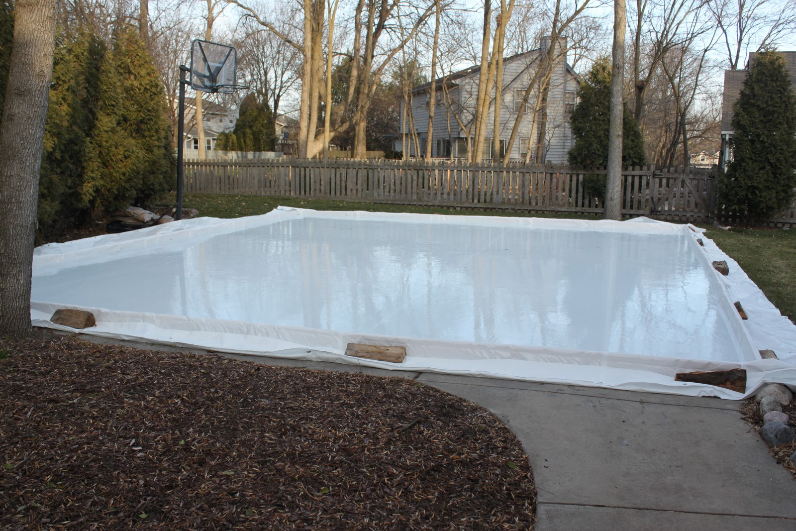 my best friend craig our homemade ice rink is back