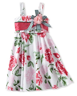 MyHabit: Save Up to 60% off Girls Dresses: Bonny Billy Floral Flare Dress - She'll twirl and whirl in delight in this flared floral dress with flower embellishment, invisible back zipper and ties