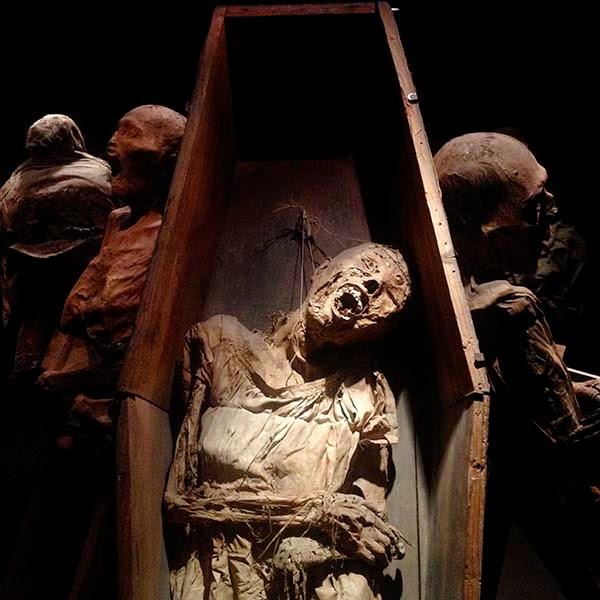 """Momia en un ataud en el Museo de las Momias de Guanajuato. El Tao Te King, de Lao Tse describe así la vida y la muerte:""""En el nacimiento toda la gente es suave y flexible. En la muerte es dura y rígida. Todas las plantas son suaves y flexibes. En la muerte son quebradizas y secas. Cuando somos duros y rígidos, nos asociamos con la muerte. Cuando somos suaves y flexibles, afirmamos la vida más grande."""""""